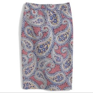 J.Crew No. 2 pencil skirt in paisley